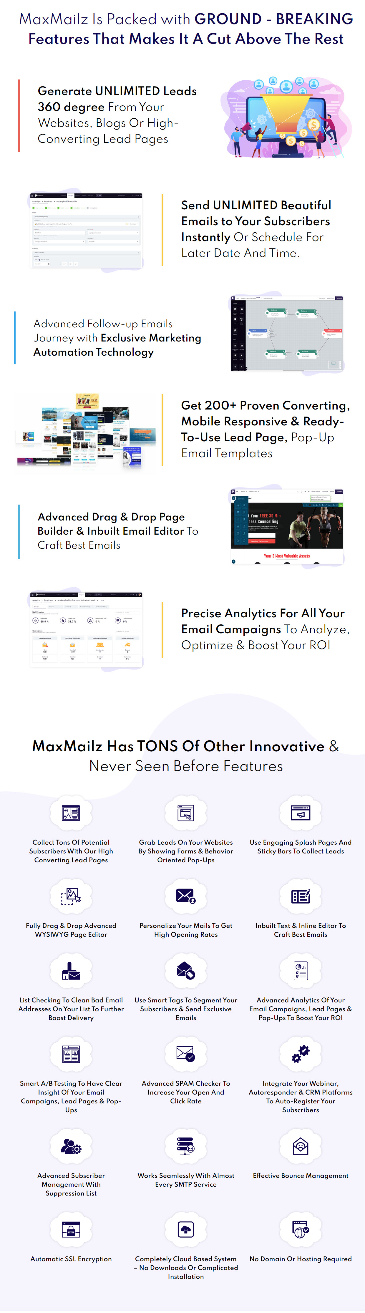 MaxMailz Features